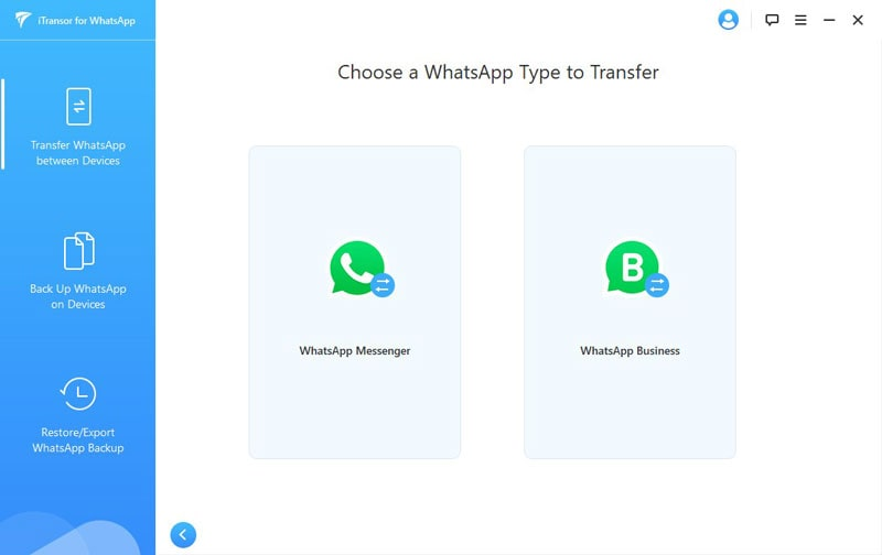 choose the whatsapp business to transfer
