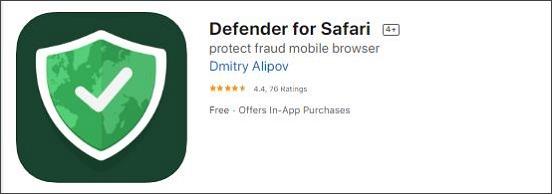 Defender for Safari