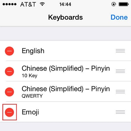 remove and add new keyboard emoji