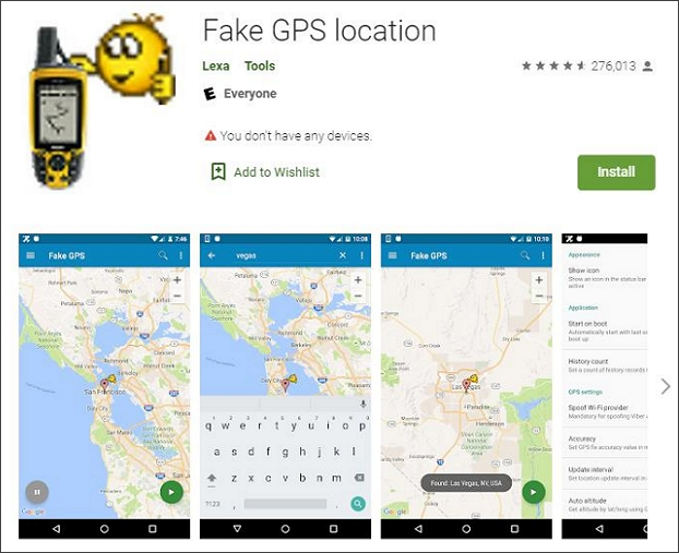 download fake gps location on your android phone