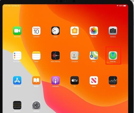 find my feature on iPad mini