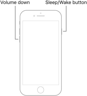 force restart iPhone 7 or 7 Plus