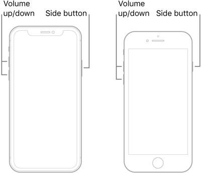 force restart iPhone 8 or later models