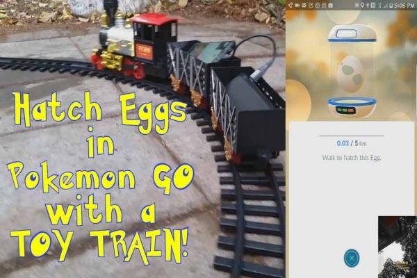 use a railroad to hatch eggs in Pokemon Go