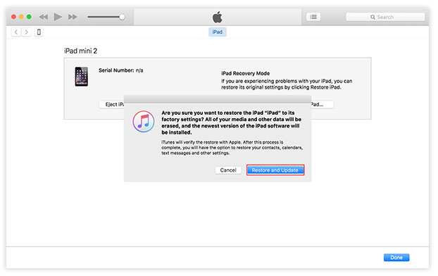 use itunes to restore and update your iphone