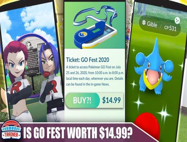 Pokemon Go Fest ticket