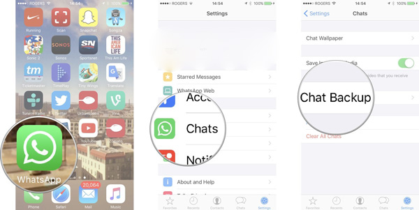 restore whatsapp backup from Android