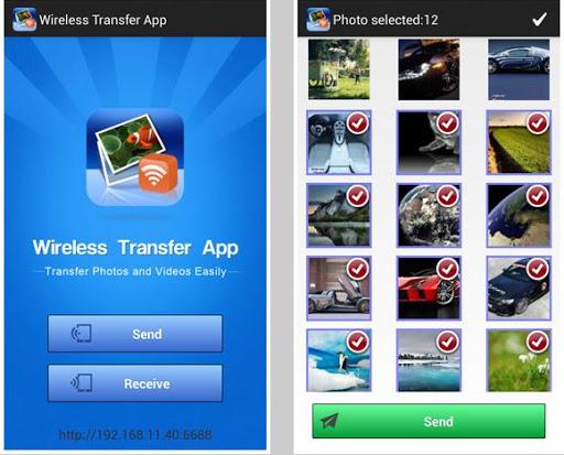 transfer data using Wireless Transfer App