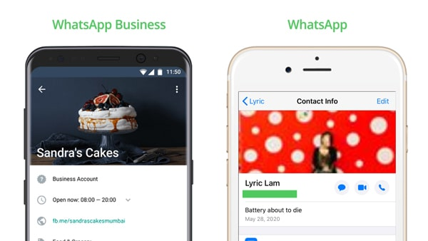 differences between whatsapp and whatsapp business profile