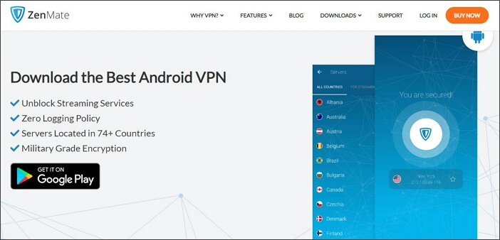 ZenMate VPN for Android