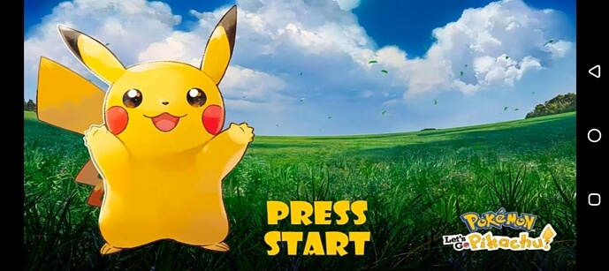 play Pokemon Let's Go Pikachu on your mobile