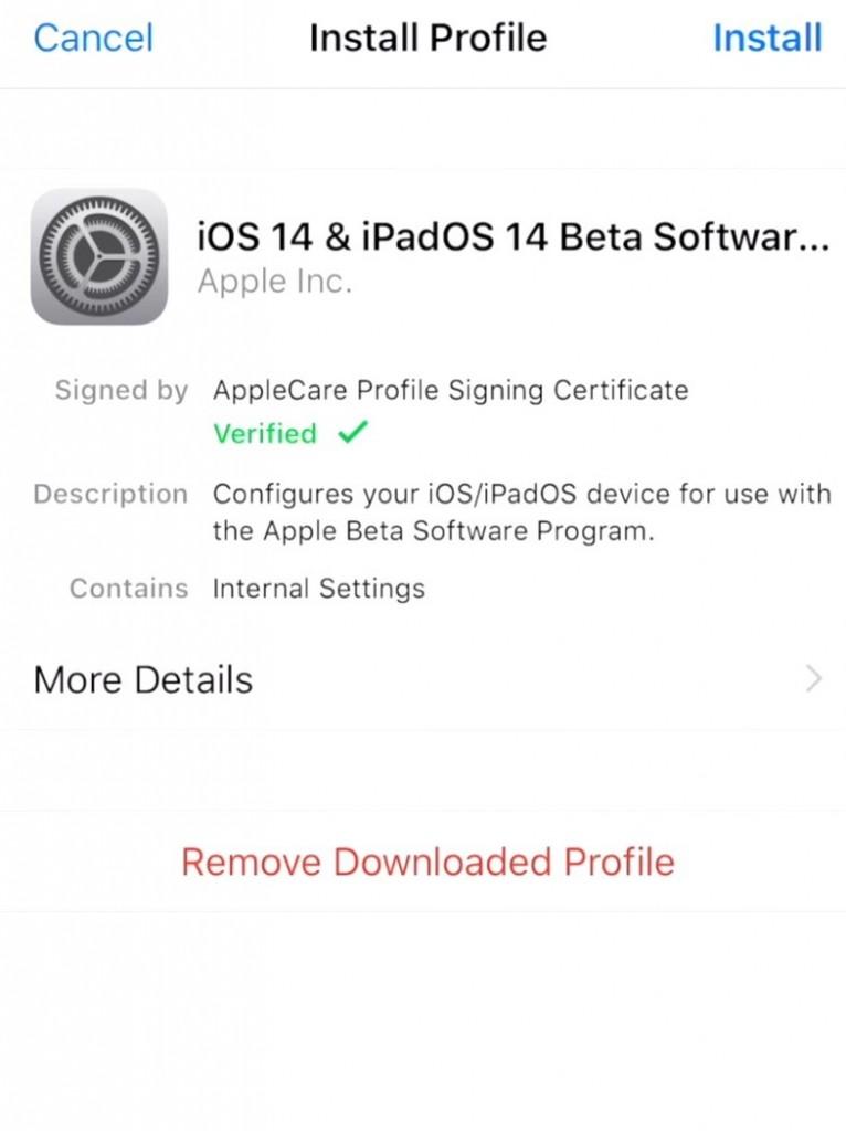 Install-profile