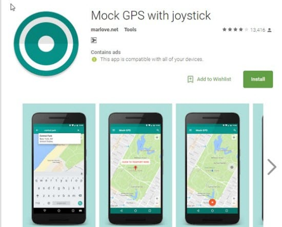 Mock GPS with Joystick