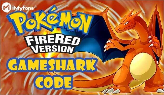 Pokémon Fire Red Gameshark codes