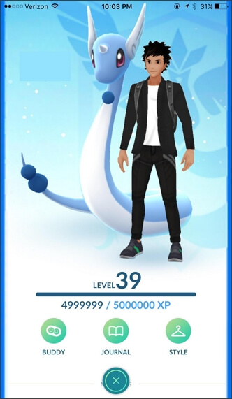 trainer XP in Pokemon go