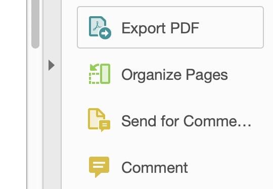 adobe acrobat pro dc export pdf