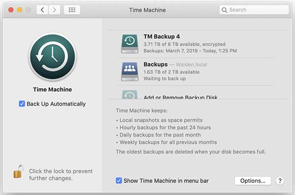backup your mac with time machine