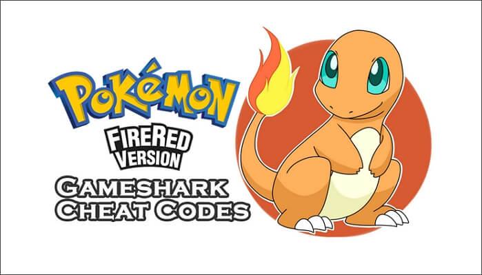 Pokémon Fire Red Gameshark Cheat Codes