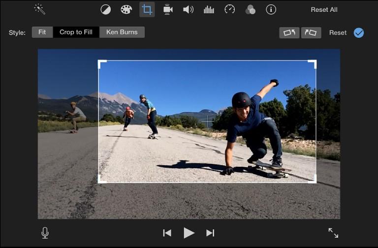iMovie Crop