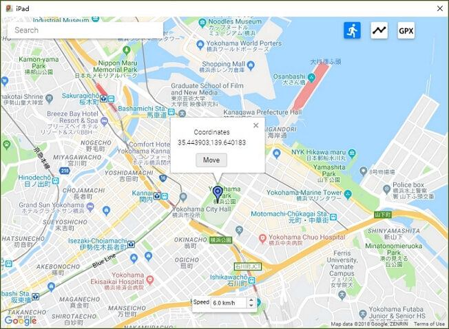 select a location on the map