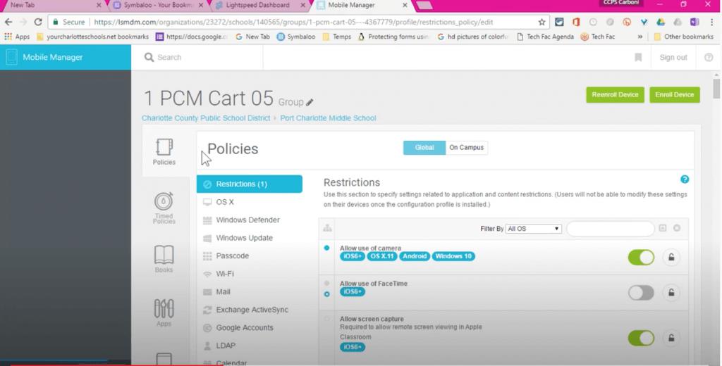 Select the MDM Profile