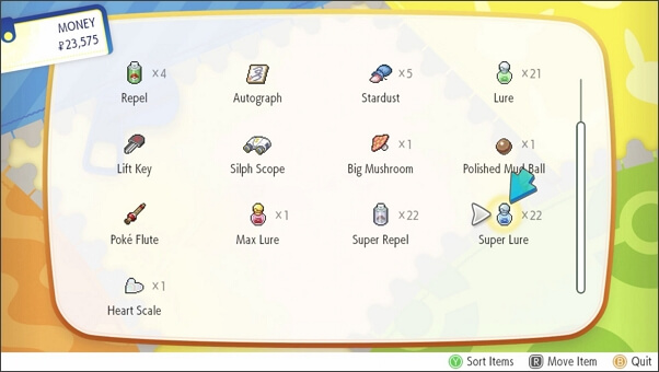 make use of lures on Let's Go Pikachu