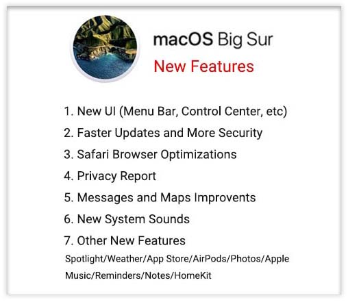 macos big sur new features