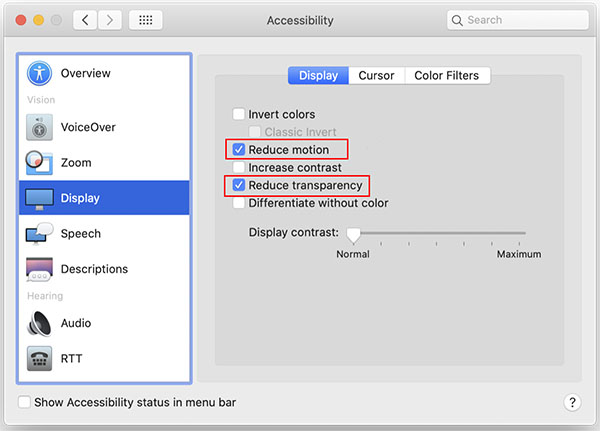 optimize UI experience on mac