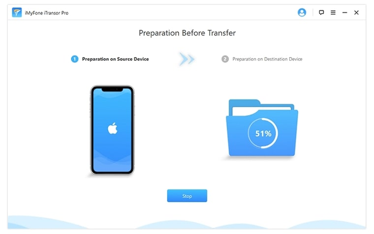 prepare the devices for phone transfer