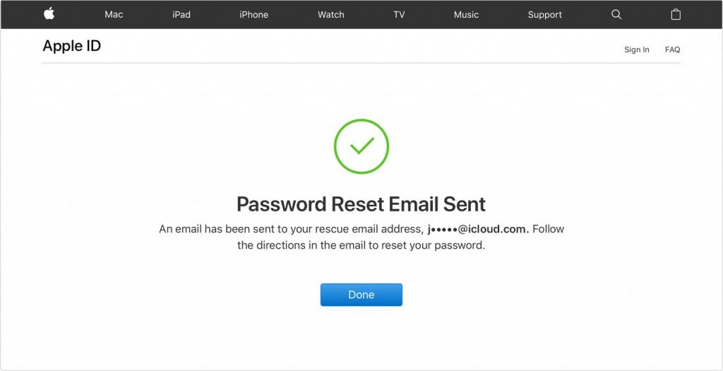 reset icloud passcode via Apple ID account