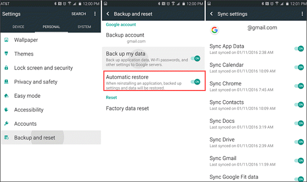restore sms from android on google drive