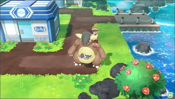 Ride your pokemon when playing Let's Go Pikachu
