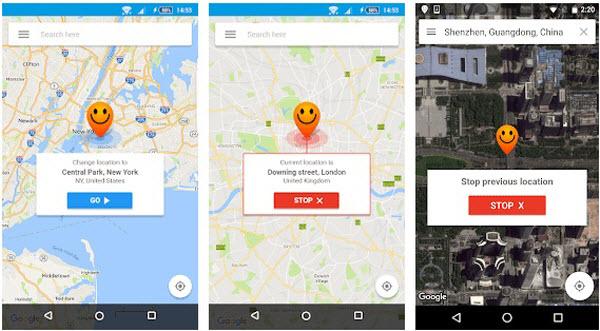 set fake location in fake GPS app