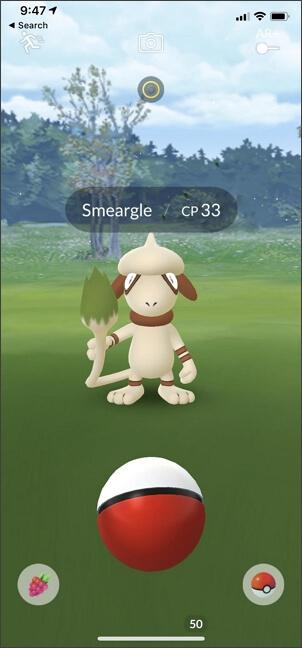 catch smeargle in Pokemon go