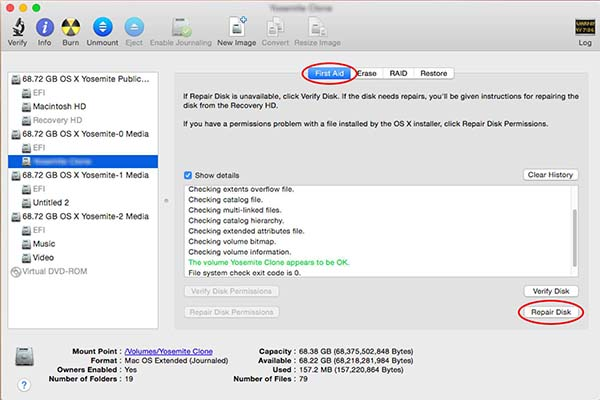 use disk utility to fix spinning wheel mac