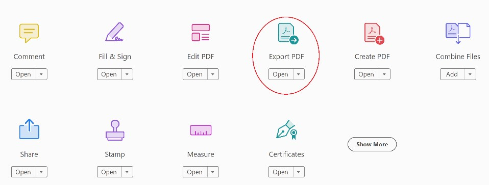 Acrobat export pdf