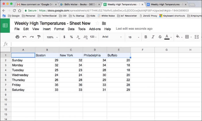 convert PDF to Excel using Google Drive