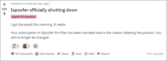 ispoofer officially shutting down