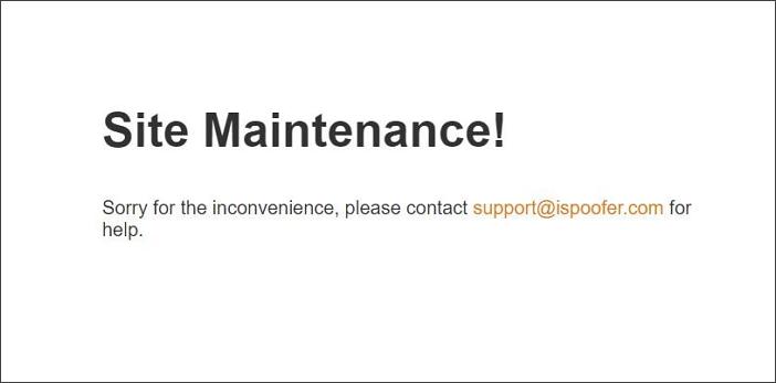 iSpoofer site maintenance