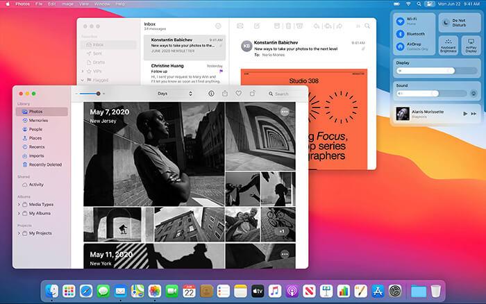 macOS Big Sur features