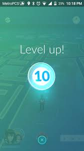 pokemon go level 10