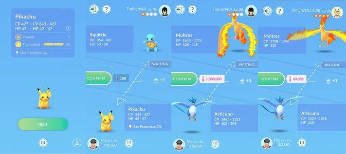 trade regionals pokemon go