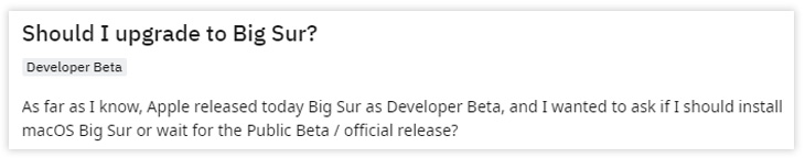 should I update to macOS Big Sur
