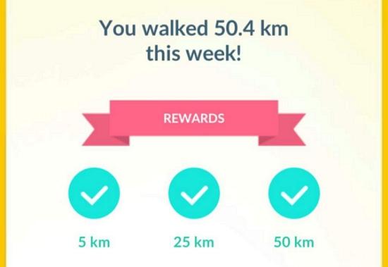 Pokémon GO 50km rewards