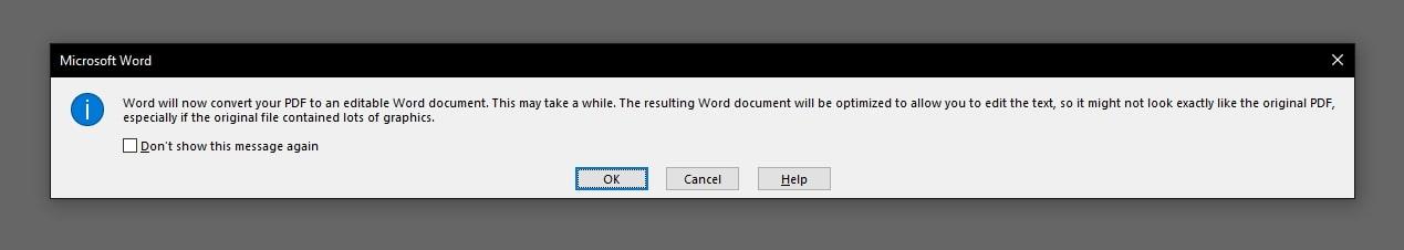 word convert pdf