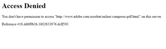 adobe online access denied