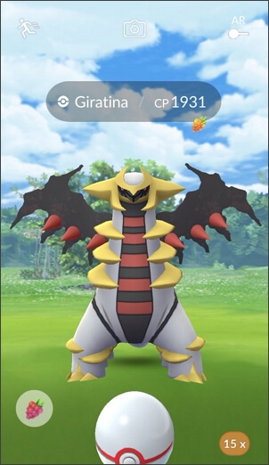 catch giratina in Pokemon GO