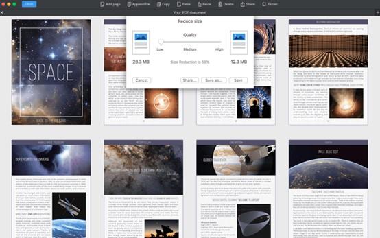 compress in pdf expert mac