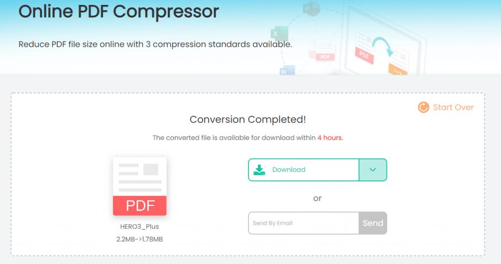 imyfone online pdf compressor download compressed PDF file