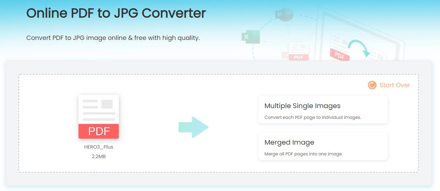 pdf to jpg converting mode